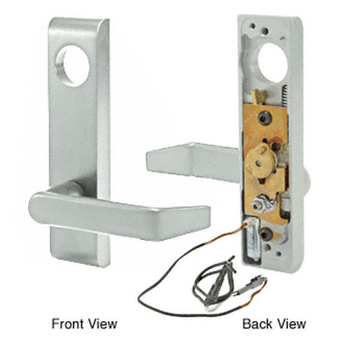 CRL 9500EL02628 Jackson Electric Outside Lever Trim with Flat Style Lever Satin 24 Volt DC