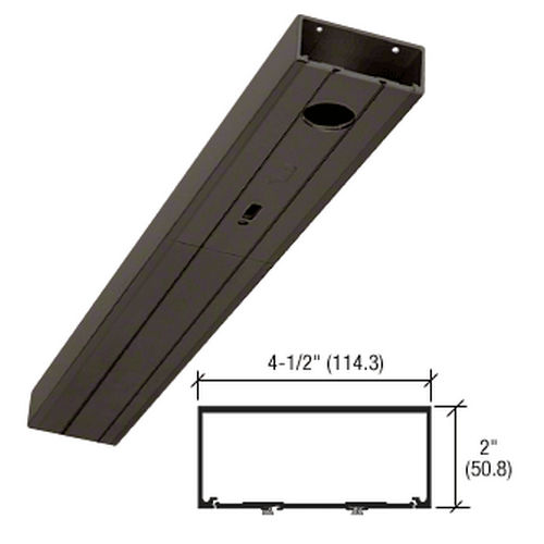 CRL HB317220036 451 Series Prepped Door Header for Center Hung Overhead Concealed Closer, Bronze Anodized