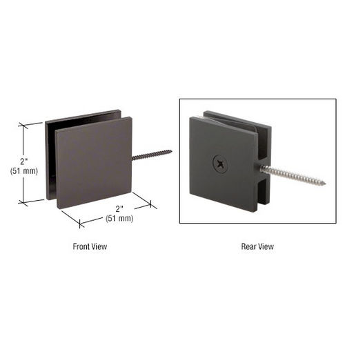 CRL SGC1860RB Square Wall Mount Movable Transom Clamp