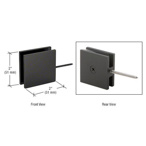 CRL SGC186BL Square Wall Mount Movable Transom Clamp