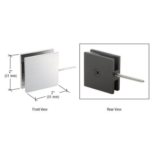 CRL SGC186BSC Square Wall Mount Movable Transom Clamp