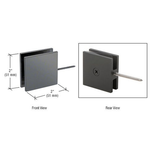 CRL SGC186GM Square Wall Mount Movable Transom Clamp