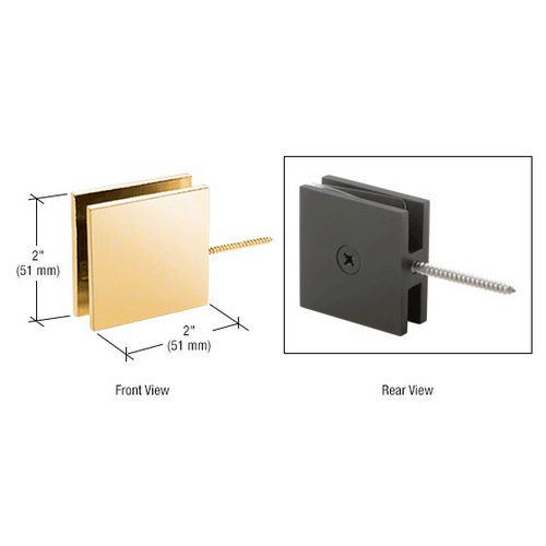 CRL SGC186GP Square Wall Mount Movable Transom Clamp