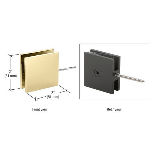 CRL SGC186SB Square Wall Mount Movable Transom Clamp