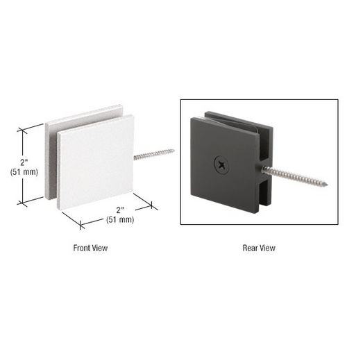 CRL SGC186W Square Wall Mount Movable Transom Clamp