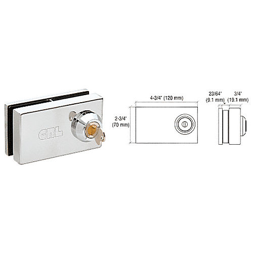 CRL 01P38 Deluxe Patch Lock, Chrome