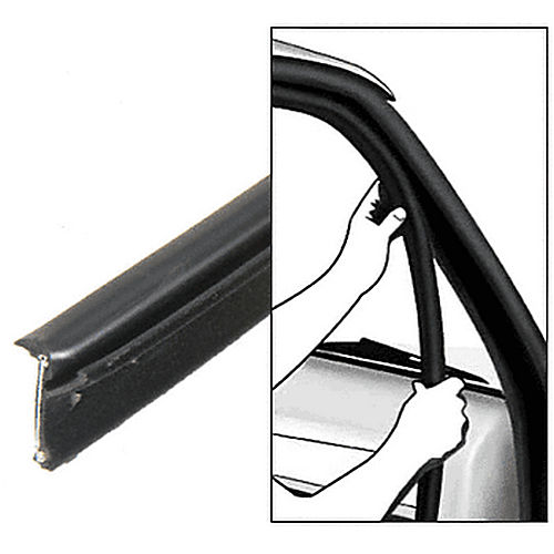CRL 1012547 1980-1986 Ford Full Size Truck Inner and Outer Driver Side and Passenger Side Belt Weatherstrip- 4 PC Kit
