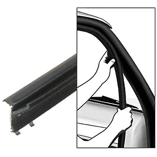 CRL 1012550 1975-1991 Ford Full Size Van Inner and Outer Driver Side and Passenger Side Belt Weatherstrip, 4 Piece Kit
