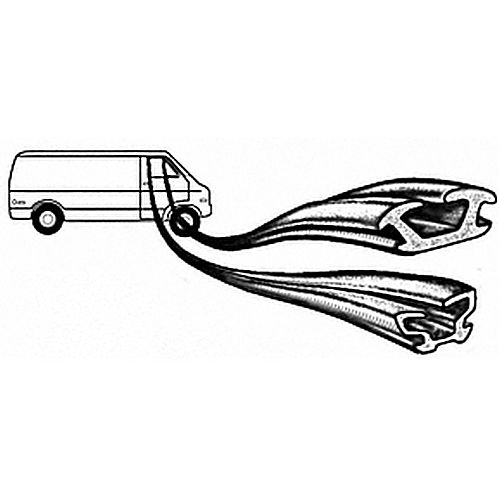 CRL 1012587 Dodge 1970-93 Plymouth Full Size Van Upper and Front Run Driver Side and Passenger Side Window Channels