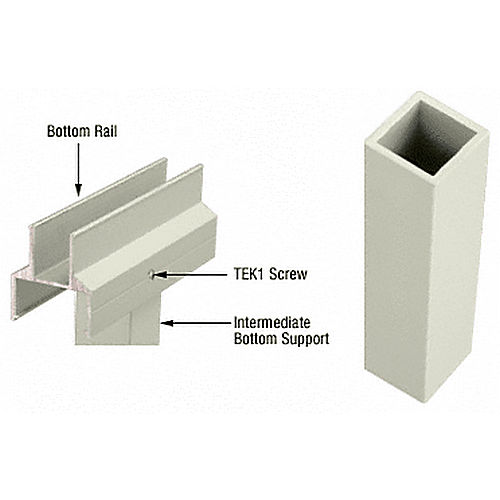 CRL 1BS0W Intermediate Bottom Support, Oyster White