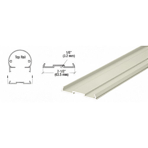 CRL 1FPKT0W Top Rail Infill for Pickets 241