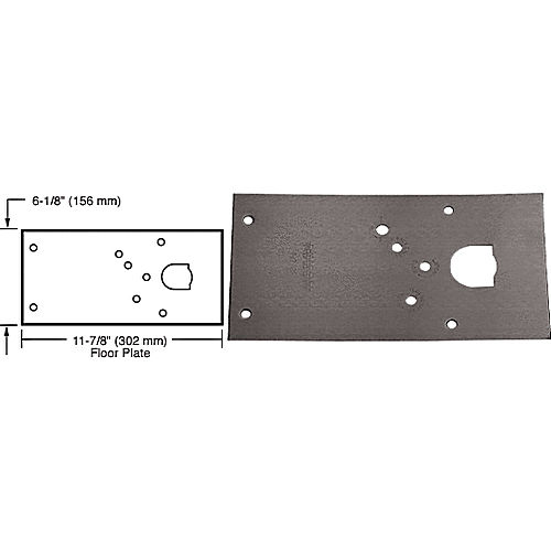 CRL 284720LHDU Rixson 28 Series Center-Hung LH Door Closer Cover Plate