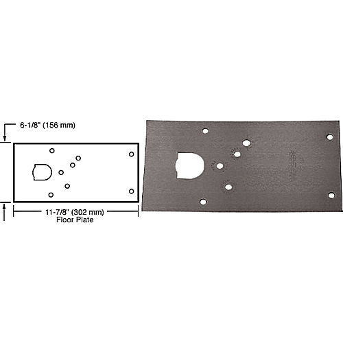 CRL 284720RHDU Rixson 28 Series Center-Hung RH Door Closer Cover Plate