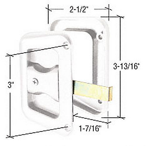 CRL A228 Sliding Screen Door Latch and Pull with 3