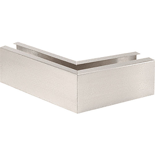 CRL B5L135BS 135 Degree Mitered Corner Cladding, Brushed Stainless