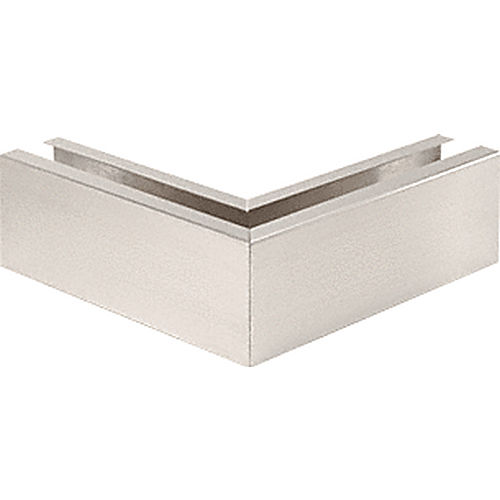 CRL B5L90BS 90 Degree Mitered Corner Cladding, Brushed Stainless