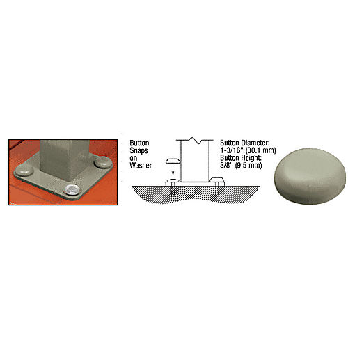 CRL BTN1BGY Beige Gray Color Match Bolt Cover Buttons
