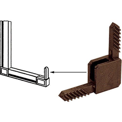 CRL CD35BRZ Square Storm Window Corner for, Sash Square Cut Fabrication, Bronze