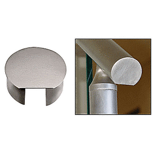 CRL CR35ECBS CRS Top Rail End Cap, Brushed Stainless