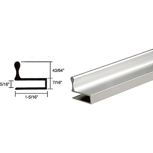 CRL D644BA Glass Door Edge Pull Extrusion, Brite Anodized