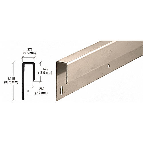 CRL D645BN Nose J Channel, Brushed Nickel