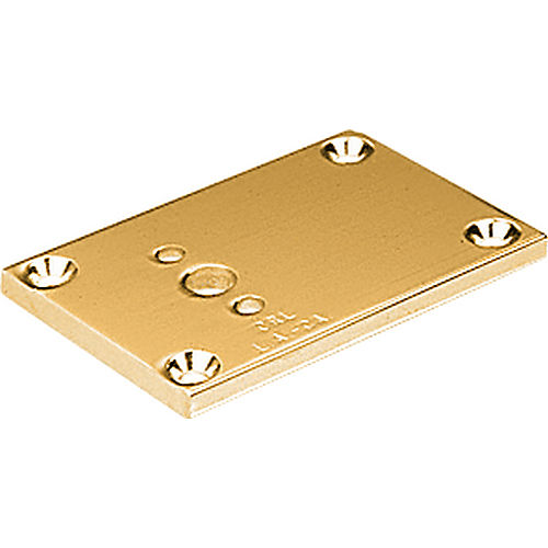 CRL D693BGA Partition Post Blank Base 2 x 3, Brite Gold Anodized