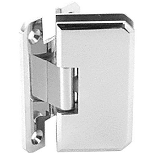 CRL M0N045CH Monaco 45 Series Wall Mount Offset Back Plate Hinge, Chrome