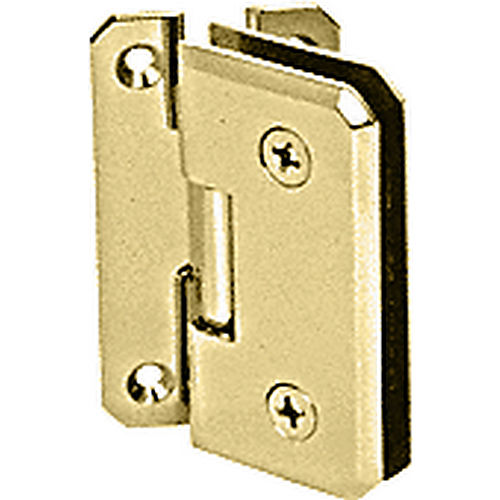 CRL M0N054BR Brass Monaco 54 Series Wall Mount Offset Back Plate Hinge