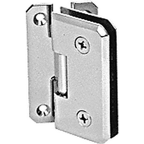 CRL M0N054CH Monaco 54 Series Wall Mount Offset Back Plate Hinge, Chrome