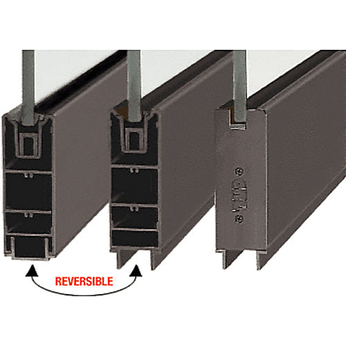 CRL SR6SDU3812240 Square Sidelite Rail, Black Bronze Anodized
