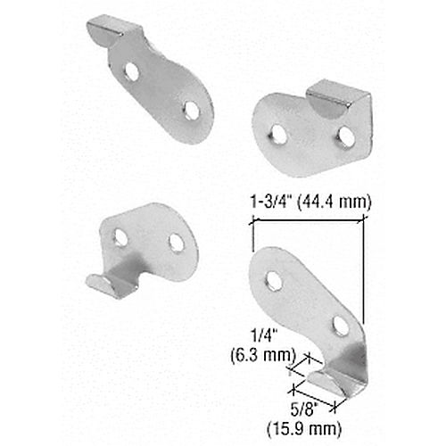 CRL 80 Goss Mirror Mounting Clip Set, Nickel Plated