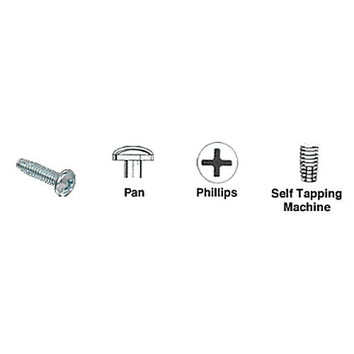CRL 1024X34PHPTS Pan Head Phillips Self-Tapping Machine Screws