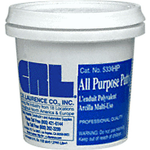 CRL 533HPGRY All Purpose Putty, Half Pint, Gray