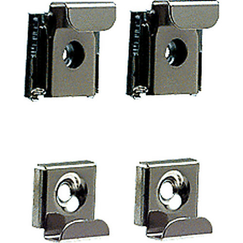 CRL 655KE Plastic Lined Mirror Mounting Clips, Polished Chrome