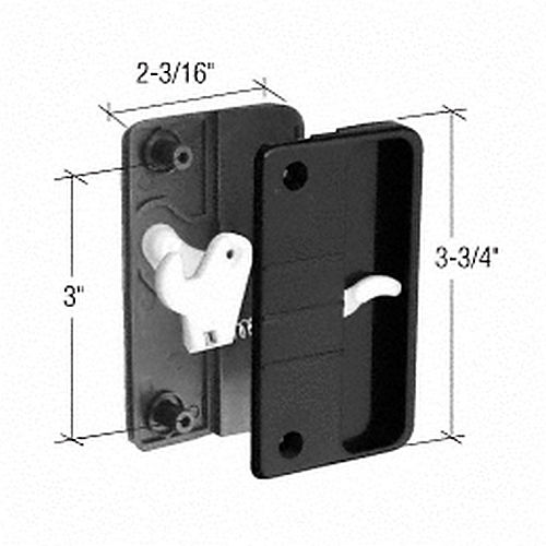 CRL A108 Sliding Screen Door Latch and Pull with 3