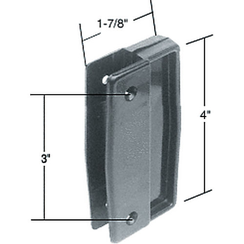 CRL A111 Sliding Screen Door Plastic Pull Set with 3