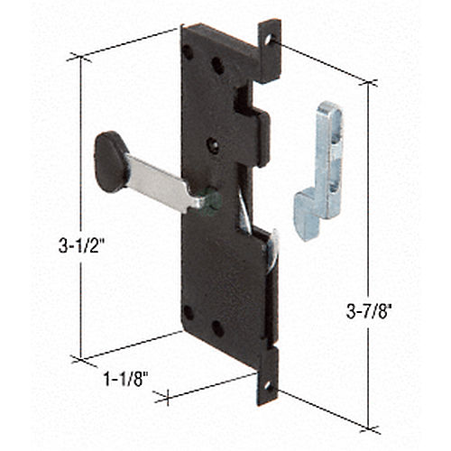 CRL A121 Screen Door Latch and Pull with 3-7/8