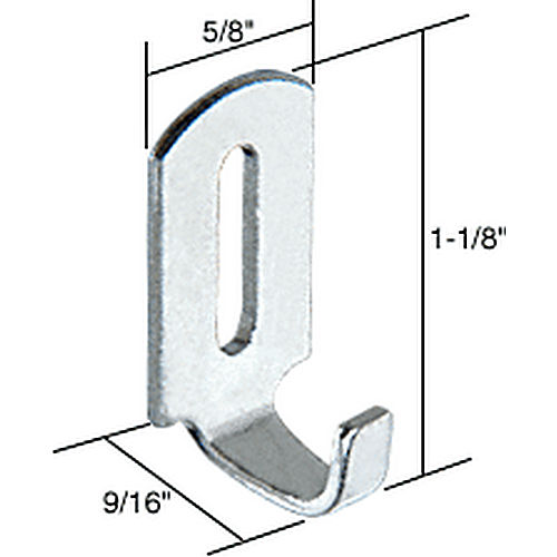 CRL A125 Sliding Screen Door Latch Strike with 9/16