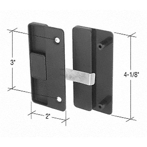 CRL A177 Sliding Screen Door Latch and Pull with 3