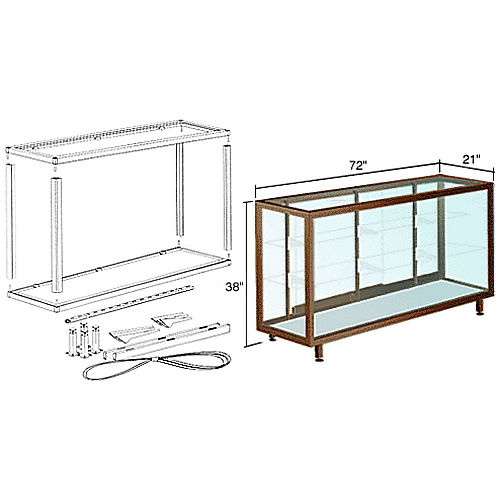 CRL D6306DU Deluxe Packaged Showcase Assembly, Duranodic Bronze
