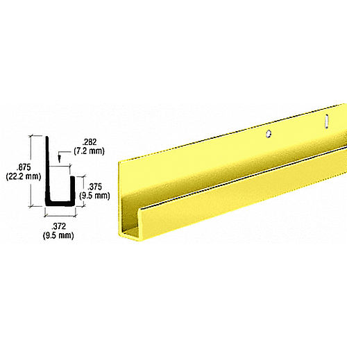 CRL D636DBGADipped Brite Gold Anodized 1/4