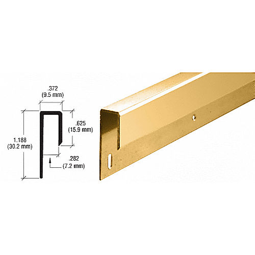 CRL D645GA Nose J Channel, Gold Anodized