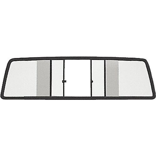 CRL TSW935B Four Panel Duo-Vent Sliders for 1987-1996 Mitsubishi Standard and Macro Cabs