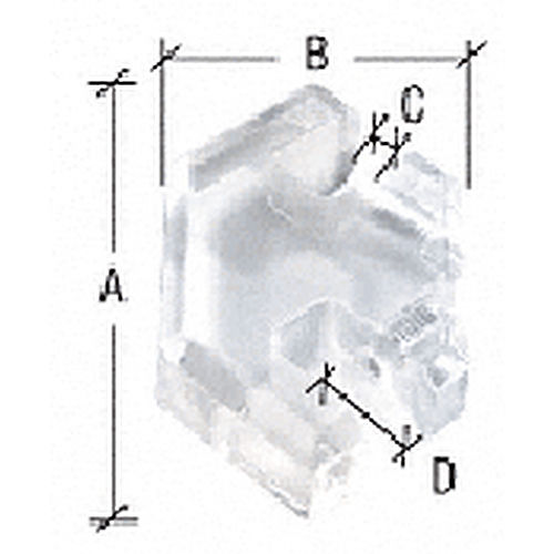 CRL HGC212 Acrylic 2-Way Heavy Glass Connector for 1/2