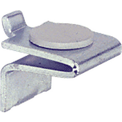 CRL KV256R Shelf Support with Rubber Cushion, Brite Zinc Plated