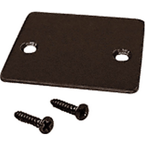 CRL UCECDU End Cap with Screws, Black Bronze Anodized