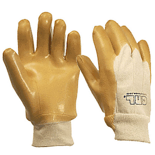 CRL 10 Knit Wrist Smooth Natural Rubber Palm Gloves