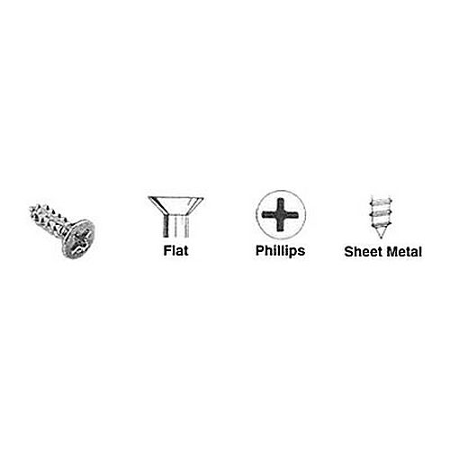 CRL 10X34FHPSMS Flat Head Phillips Sheet Metal Screws