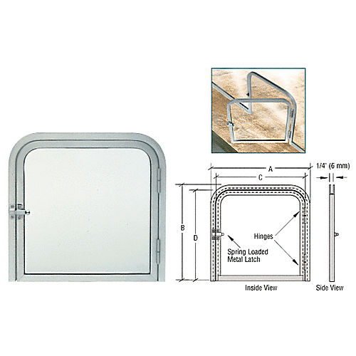 CRL 1213RHA Package Slot with Right Hinged Clear View Door, Satin Anodized