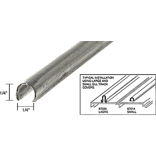 CRL 6701A10 Small Patio Door Sill Cover 10' Stainless